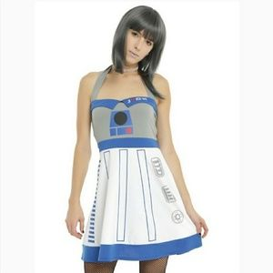 Hot Topic R2 D2 Star Wars Cosplay Halter Dress
